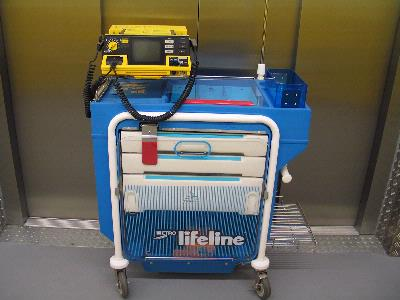 Crash Trolley & Defibrillator