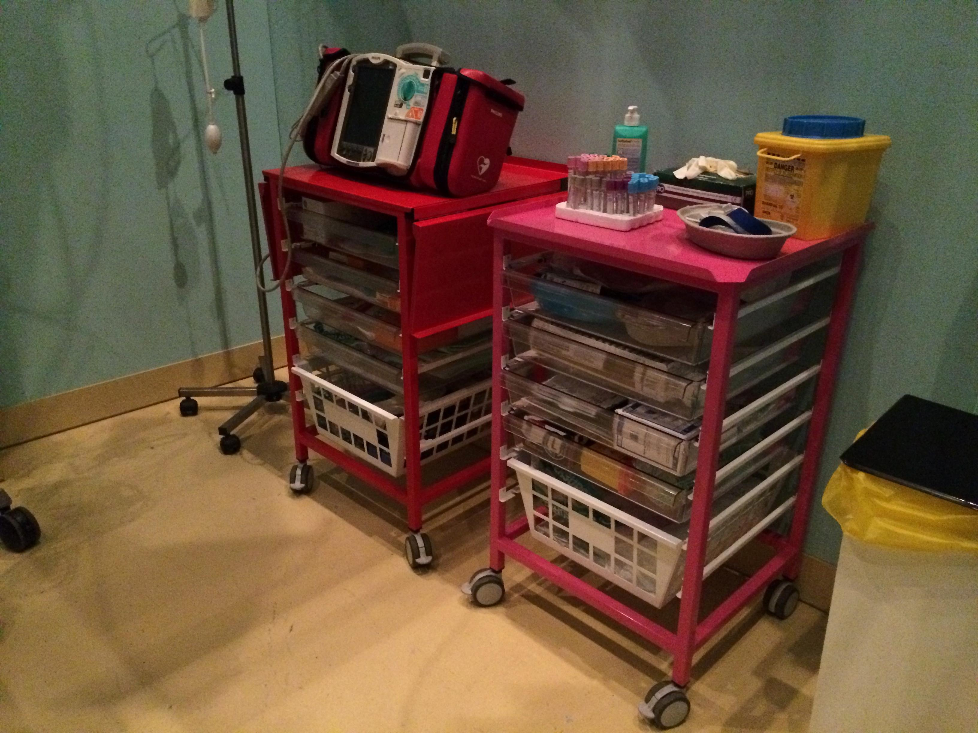 Red & Pink Medical Trolleys