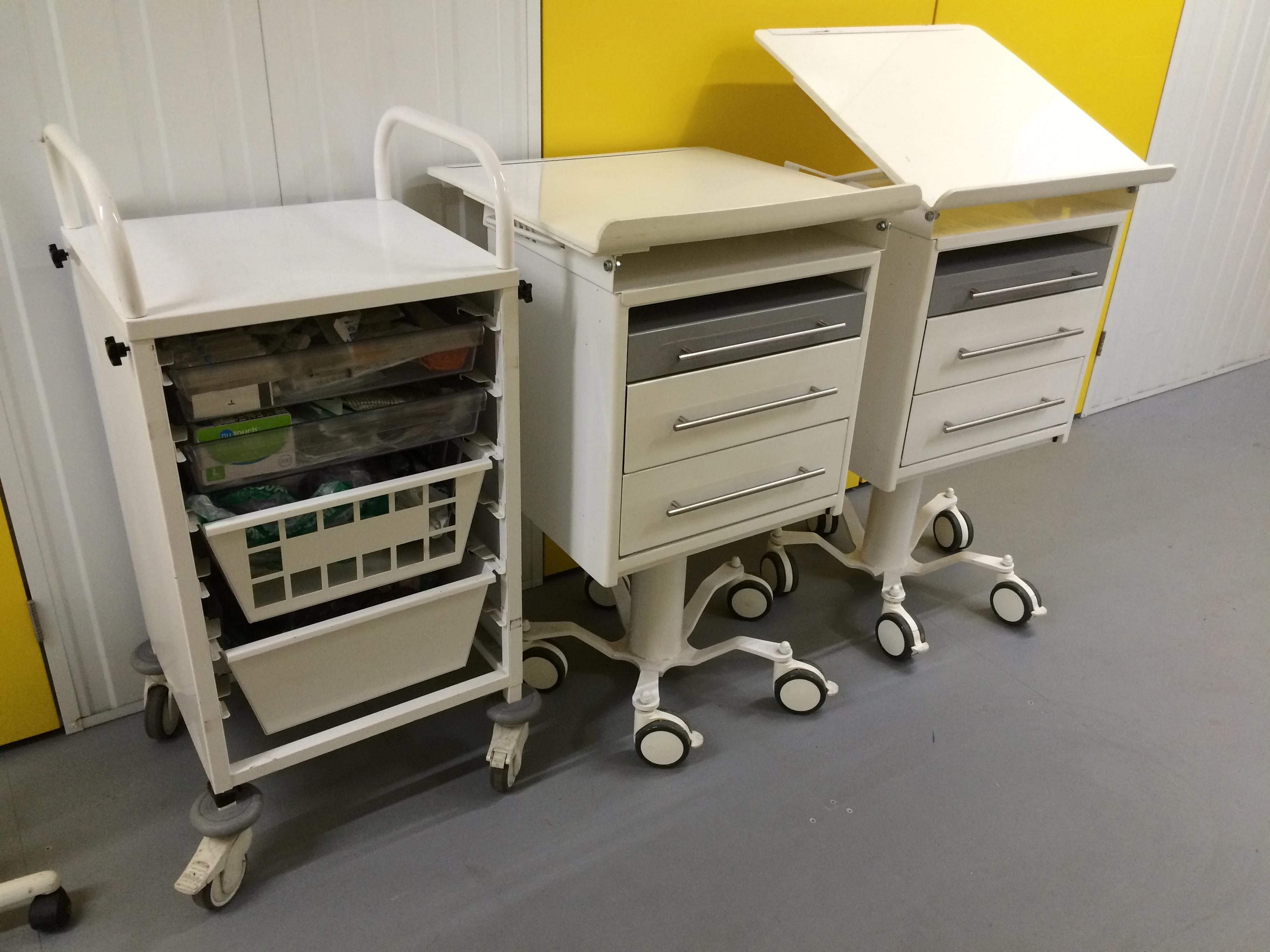 Medical Cart 2 & Chart Station 3