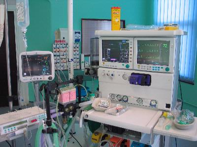 Anaesthetic Machine & Various Monitors