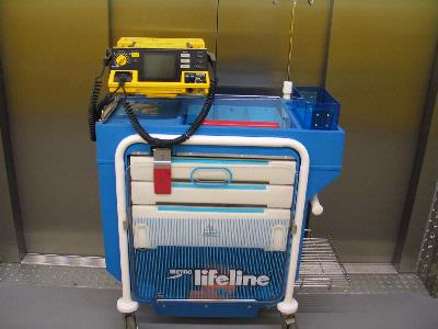Defibrillator & Crash Trolley