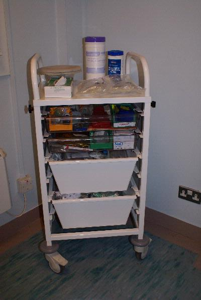 dressed Medical Trolley